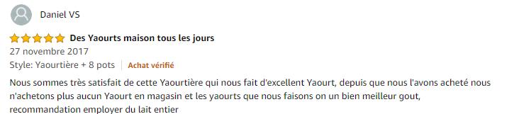 Avis yaourtière fromagère Cuisinart Ym400e